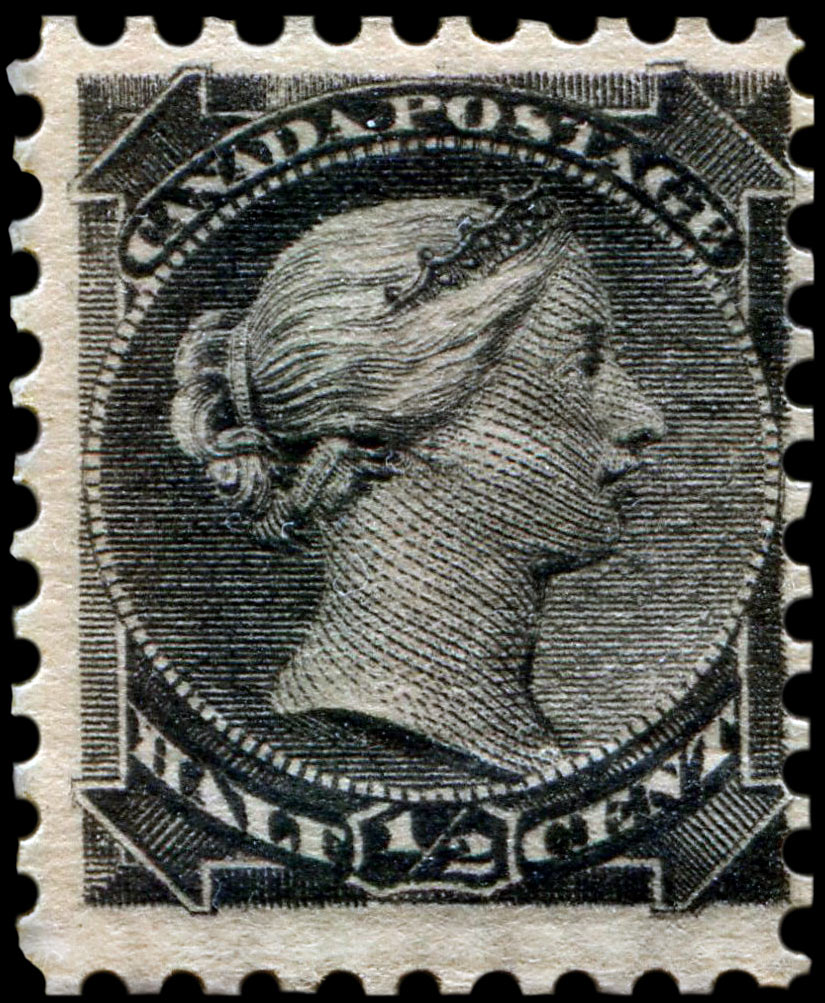 One Half Cent Black Major Re Entry Plate Position 1 R98