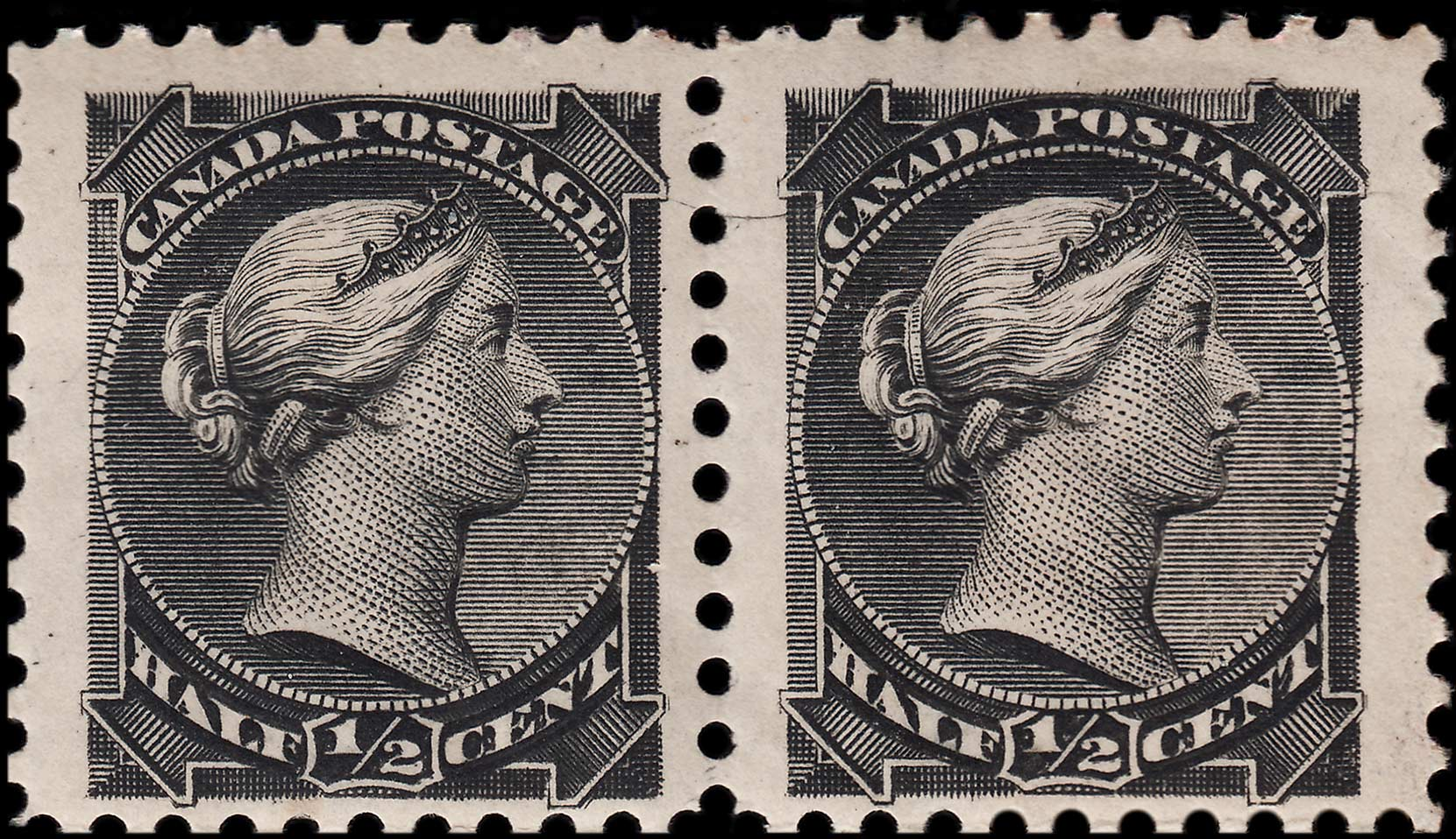 The Pair Below Shows A More Typical Example Of This Variety After Some Plate Wear Notice How Scratch In Left Margin Right Stamp Remains